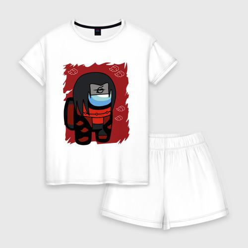 Женская пижама с шортиками хлопок Among Us \ Itachi Uchiha.