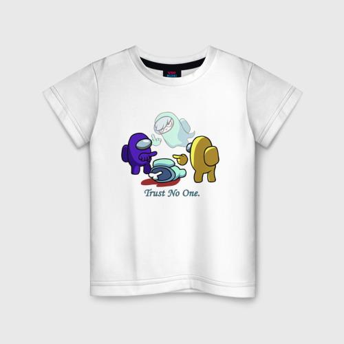 Детская футболка хлопок Among Us \ Trust No One.