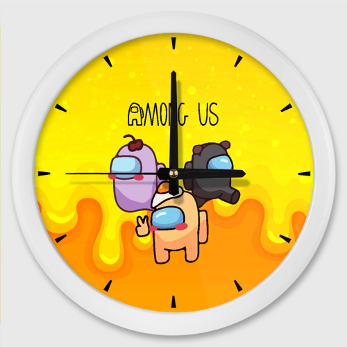 Настенные часы круглые Among Us Желток