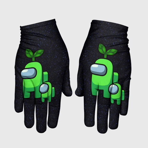 Перчатки 3D Among us Lime+ kid lime