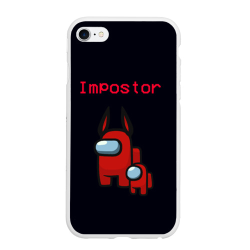 Чехол для iPhone 6/6S матовый Among us Impostor
