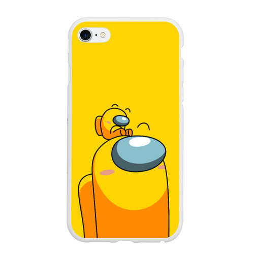 Чехол для iPhone 6/6S матовый AMONG US YELLOW