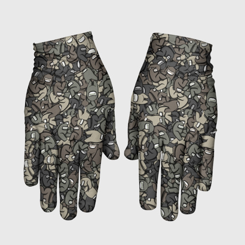 Перчатки 3D Камуфляж Амонг Ас