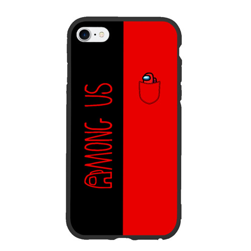 Чехол для iPhone 6Plus/6S Plus матовый Among Us (В кармашке)