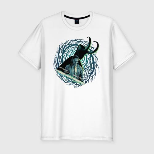 Мужская футболка хлопок Slim Локи