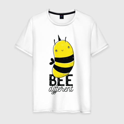 Мужская футболка хлопок Be Different - Прикол с пчелой